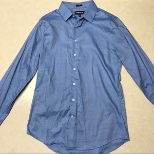 Express 1MX Blue Dress Shirt
